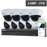 Compact Series 8 Cam 4.0MP IP CCTV Kit (Fixed, 2TB)