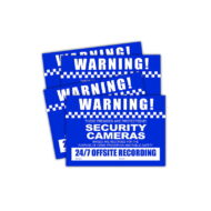 CCTV Warning Stickers (4 pack) - Small Size