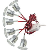 6 Round 3W LED Dimmable Cabinet Lights (3000K)