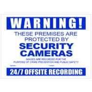CCTV Warning Sign Corflute A3 Size
