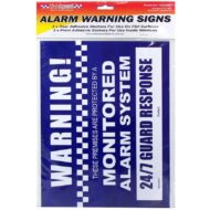 Alarm Warning Stickers A4 Size (2 x Front 2 x Rear)
