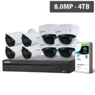 Compact Series 8 Cam 8MP IP CCTV Kit (Fixed, 4TB)